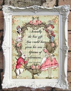 ALICE in WONDERLAND Print Alice in Wonderland by OldStyleDesign