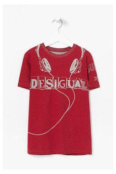 Camiseta Desigual roja/gris reversible - Albert #circulogpr #desigual #fashion #modainfantil
