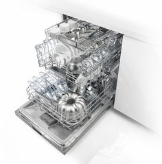 """Bosch - 800 Series 24"""" Custom Panel Dishwasher with Stainless Steel Tub - Custom Panel Ready - AlternateView14 Zoom"""