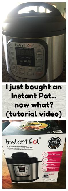 If you're scared to take your Instant Pot out of the box...don't be! This video will show you what to do and get you cooking in no time!