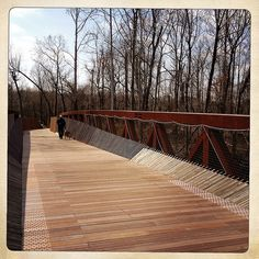The new Wolf River pedestrian bridge at Shelby Farms  is a great place to have a little quiet time.