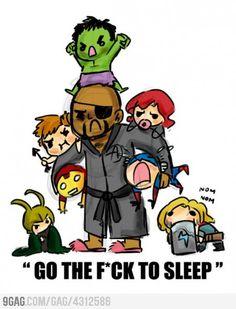 Nick Fury babysitting The Avengers