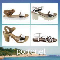 PISANDO EN PLATA! ✨ Destella a cada paso con las sandalias con palas y tiras plateadas de piel by Porronet. ¿Qué estilo te gusta más? Comenta! #Porronet www.porronet.es