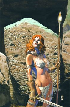 Red Sonja #14 cover by J.G. Jones