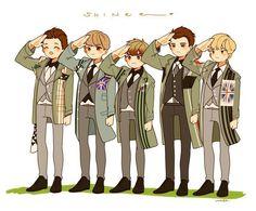 Cute Shinee fan art! Onew, Taemin, Jonghyun, Minho, Key
