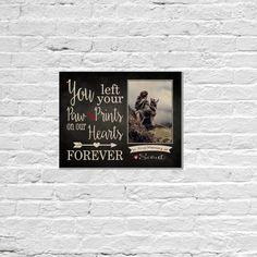 Dog Loss Gift Dog Memorial Frame Pet Loss Gift by MadiKayDesigns