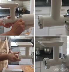 How to grind your own meat for burgers Hamburger And Fries, Hamburger Meat Recipes, Kitchen Aid Recipes, Kitchen Aid Mixer, Kitchenaid Meat Grinder, Grinders Recipe, Chicken Processing, Home Burger, Recipes Using Ground Beef