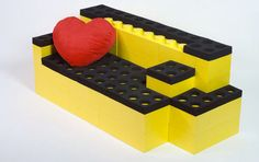 Life-size LEGO furniture. Why not?