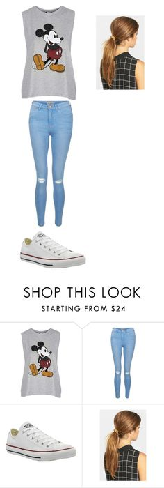 """Untitled #245"" by mynameisblrryface ❤ liked on Polyvore featuring Topshop, New Look, Converse and Ficcare"