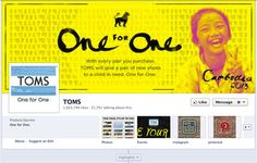 TOMS >> Cover Photo >> Toms believes strongly in supporting worthy causes as part of its brand strategy. Is cover photo does a fantastic job of showing what the brand stands for. Children In Need, Cover Photos, Ecommerce, Believe, Toms, Social Media, Messages, E Commerce
