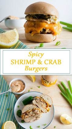 Spicy Shrimp and Crab Burgers