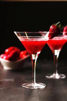 'Dirty Vegas' Strawberry Martini