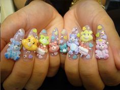 Some people need to learn limits for nail designs. This is just too much.