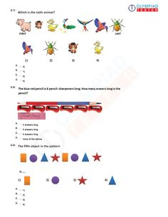 Mental ability and logical reasoning tests and sample papers for Grade 1 have been prepared by Olympiadtester, the leader in Olympiad exam preparation w