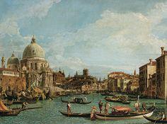 entree du grand canal et basilique - Canaletto