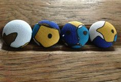 Puff Ball Buttons -- Day Dream Hedgerows £2.50
