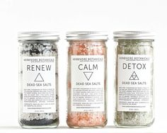 Dead Sea Bath Salt Set. 3 Types. Essential Oils. 100% Natural Vegan Handmade.
