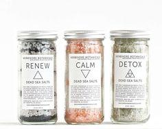 Ensemble sel de bain de mer morte. 3 types. Huiles essentielles. 100 % naturel…