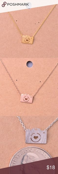 ❄️Camera Necklace❄️ Very cute and well made. I'm really into these small necklaces for some reason. Short necklace about chain. ❤️ This item is available ❤️ Items ship M-F Jewelry Necklaces Small Necklace, Short Necklace, Jewelry Necklaces, Camera Necklace, Arrow Necklace, Pendant Necklace, Mini Camera, Silver Diamonds, Fashion Tips