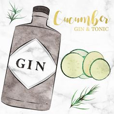 Simple and refreshing cucumber gin and tonic cocktail recipe