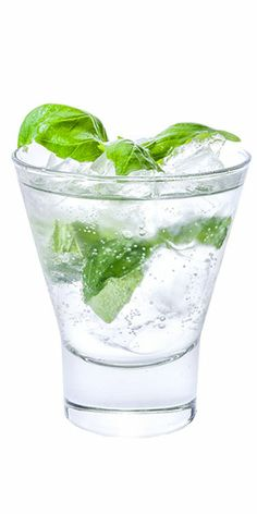 Gin, 1 oz. fresh lemon juice and ½ oz. simple syrup. Place basil ...