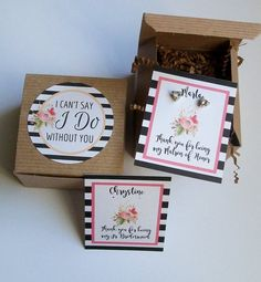 Will You Be My Bridesmaid Favor Maid of Honor Gift Box I