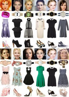 Gamine Versus Ingenue - Dress Styles : Ethereal, Romantic, Dramatic, Classic, Gamine+Ingenue, Natural.
