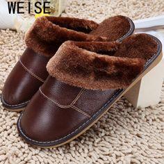 6 색 2015 새로운 정품 가죽 홈 슬리퍼 높은 품질 여성 남성 슬리퍼 봉제 따뜻한 실내 신발 남성 여성 사이즈 35-44