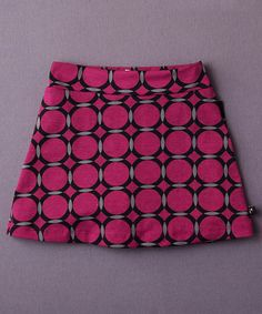 Look at this #zulilyfind! Magenta & Black Circle Vineyard Skort - Toddler & Girls #zulilyfinds
