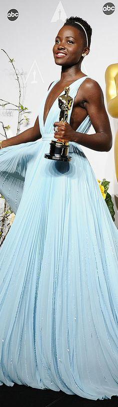 Lupita Nyong'o in Prada | Oscars 2014 | Click the image for more Lupita Oscar gown photos!