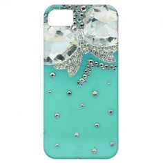 Cute Bow on Girly Turquoise Background Photo Print iPhone 5 Covers