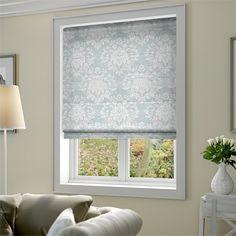 Kitchen window blinds bathroom coverings and diy grasscloth linden grove duck egg roman blind solutioingenieria Images
