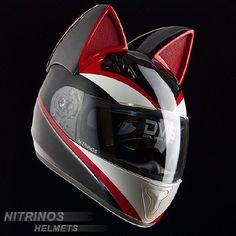 The Neko-Helmet Will Have You Rocking Your Motorcycle In Anime Character Style Motorcycle Helmet Design, Biker Helmets, Womens Motorcycle Helmets, Custom Motorcycle Helmets, Biker Gear, Motorcycle Gear, Motorcycle Accessories, Russian Motorcycle, Anime Motorcycle