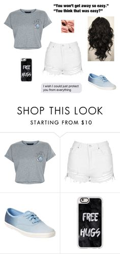 """""""~ Is That What You Wanted"""" by delahunty-ashton ❤ liked on Polyvore featuring New Look, Topshop, Keds and Casetify"""