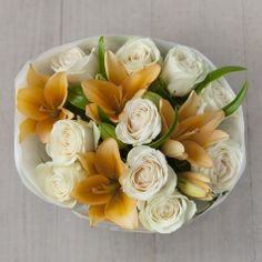 Postal Rose and Peach Lily