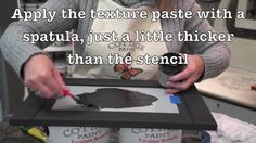 Cottage Paint Texture Paste Stencil: Learn how to add ornate detailing to furniture or cabinetry with Cottage Paint Texture Paste.