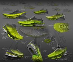 Sketches we like / Soft Goods / Sneakers / green / Digital Sketch / at Sketches & Drawings by ILIJA NIKOLIC at Coroflot.com