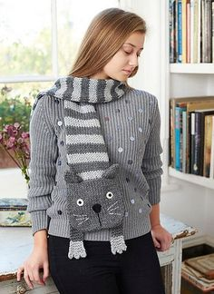 Ravelry: Tabby Cat Scarf pattern by Fiona Goble