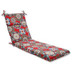 Pillow Perfect Outdoor Cera Garden Chaise Lounge Cushion Red ** This is an Amazon Associate's Pin. Clicking on the image will lead you to the Amazon website.