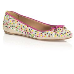 Aquazzura Candy Studs Mimosa Flat ($750) ❤ liked on Polyvore featuring shoes, flats, slip-on shoes, studded ballet flats, ballerina shoes, ballet pumps and bow ballet flats