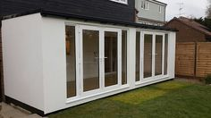Image result for contemporary garden room extensions Contemporary Garden Rooms, Garden Room Extensions, Cladding, Garage Doors, London, Outdoor Decor, Image, Alternative, Home Decor