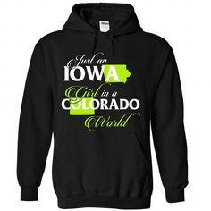 IOWA-COLORADO girl 02Lime - #tumblr tee #cardigan sweater. BEST BUY => https://www.sunfrog.com/States/IOWA-2DCOLORADO-girl-02Lime-Black-Hoodie.html?68278