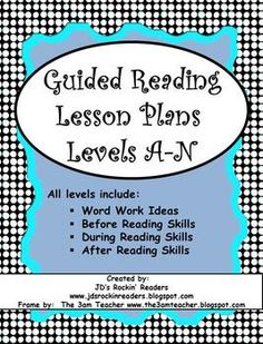 Getting geared up for Guided Reading Groups?? This is a great resource to save you tons of time and planning!! $6.00