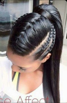 The new web for people who love hair! The new web for people who love hair! Ghana Braids Hairstyles, Braided Ponytail Hairstyles, Girl Hairstyles, Summer Hairstyles, Teenage Hairstyles, Gorgeous Hairstyles, Everyday Hairstyles, Latest Hairstyles, French Plait Hairstyles