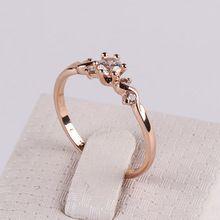 Ol senhora na moda oito coração oito setas zircão anel 18 K Rose banhado a ouro…