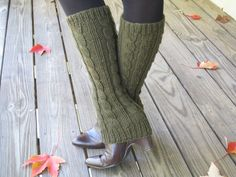 I'm not great at knitting but I could crochet some of these! Knit boot cuff/sleeve