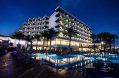 IFA Faro swimming pool at night