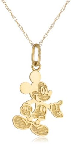 Disney Mickey Mouse 10kt Gold Girl's Pendant Necklace