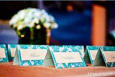 aquarium wedding escort cards