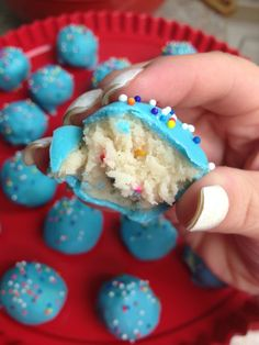 Funfetti Cookie Dough Truffles...I can't wait to make these....!!